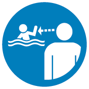 Beach safety sign_Adult supervision