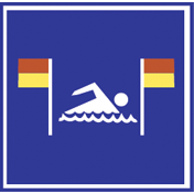 Beach safety sign_Patrolled beach